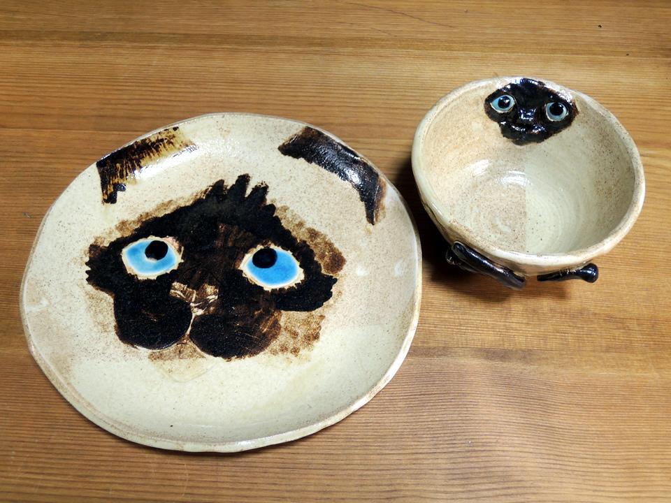シャムネコのお皿